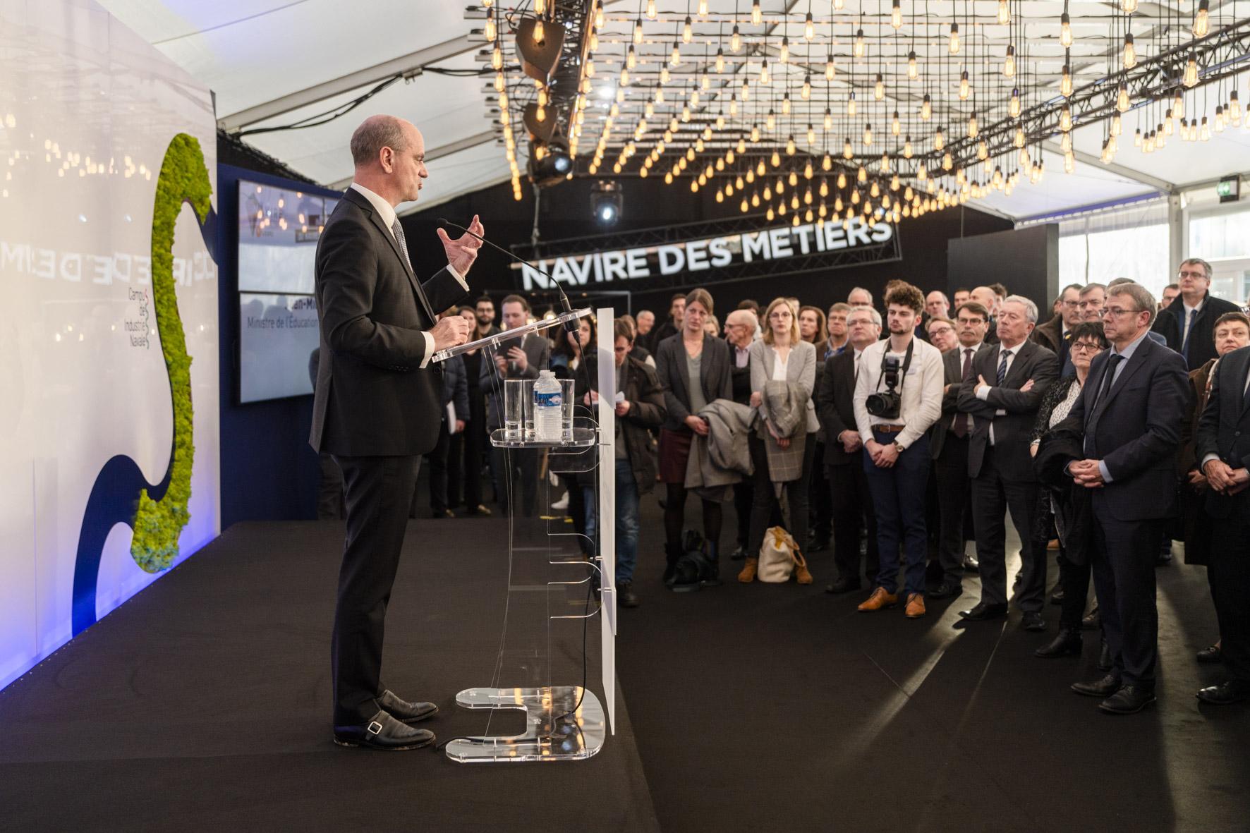 Capucins : Inauguration du bâtiment Totem du Campus des Industries Navales : « Navire des Métiers, l'expo »