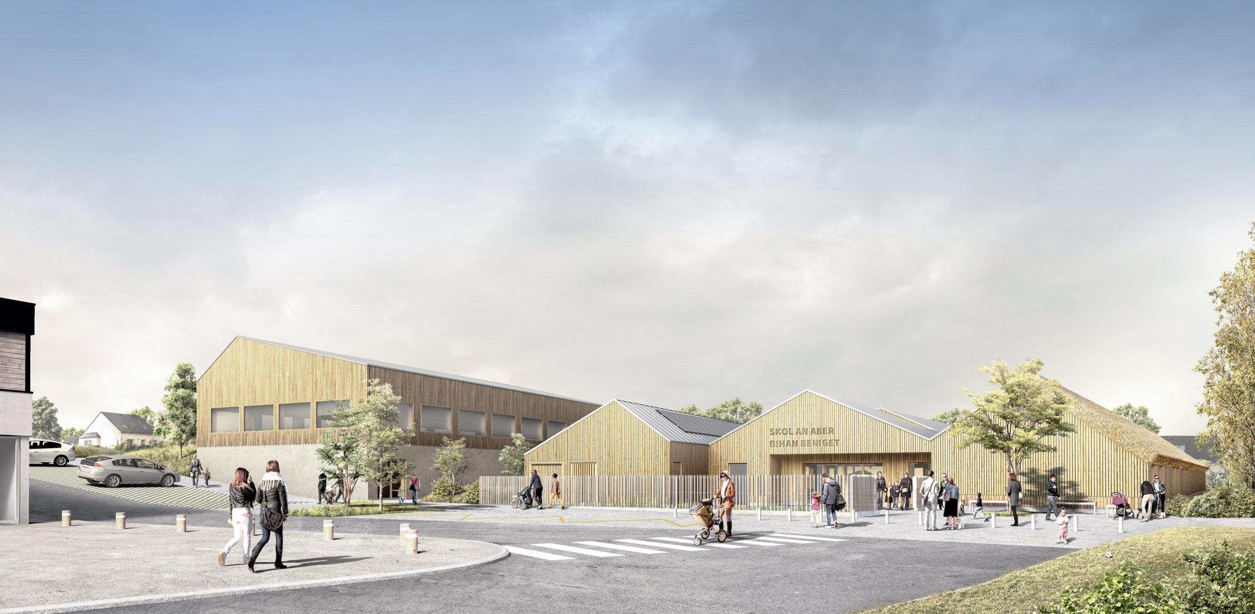 École innovante et densification: Saint Pabu réinvente son cœur avec BMa