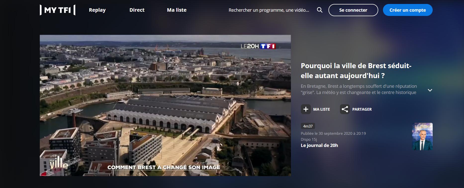 Pourquoi la ville de Brest séduit-elle autant aujourd'hui ? Un reportage à voir sur TF1