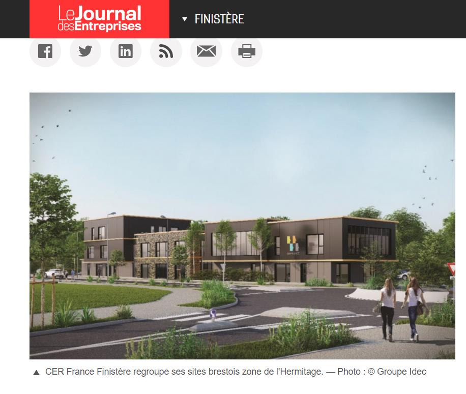 Parc d'activités de l'Hermitage : CER France 29 investit à Brest pour mieux s'y développer