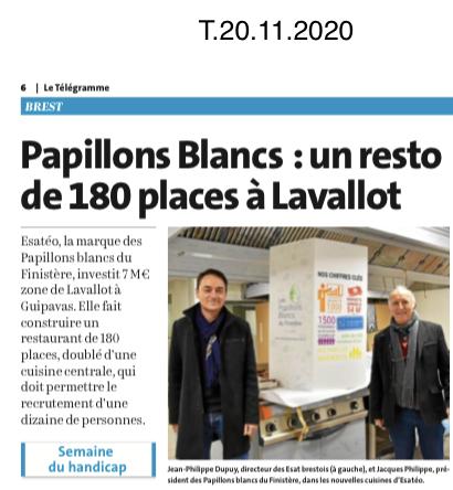 Parc d'activités de Lavallot à Guipavas : les Papillons Blancs font construire un restaurant de 180 places