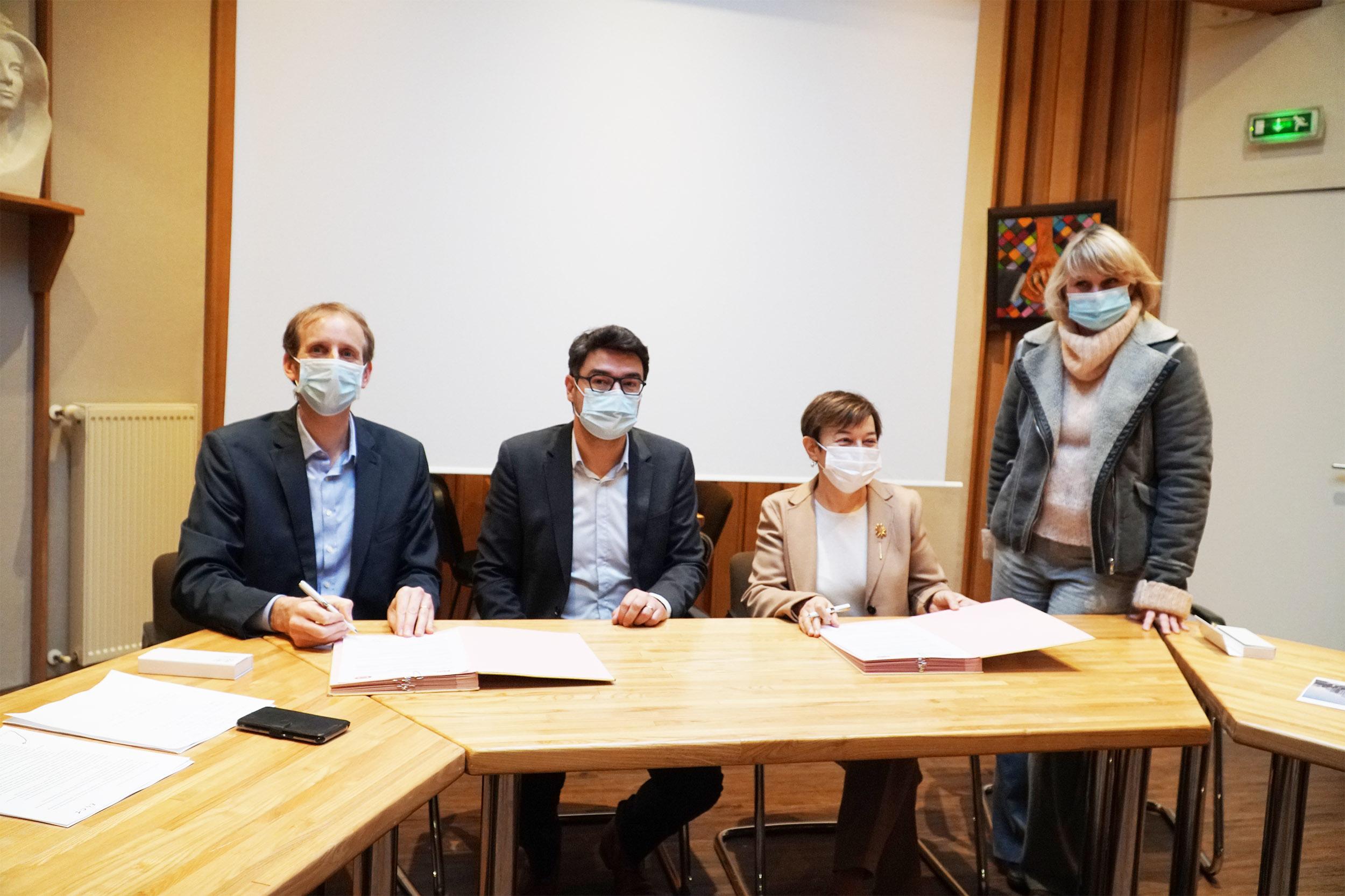 Groupe scolaire du Château-d'Eau à Gouesnou : Signature du MPGP le projet est lancé