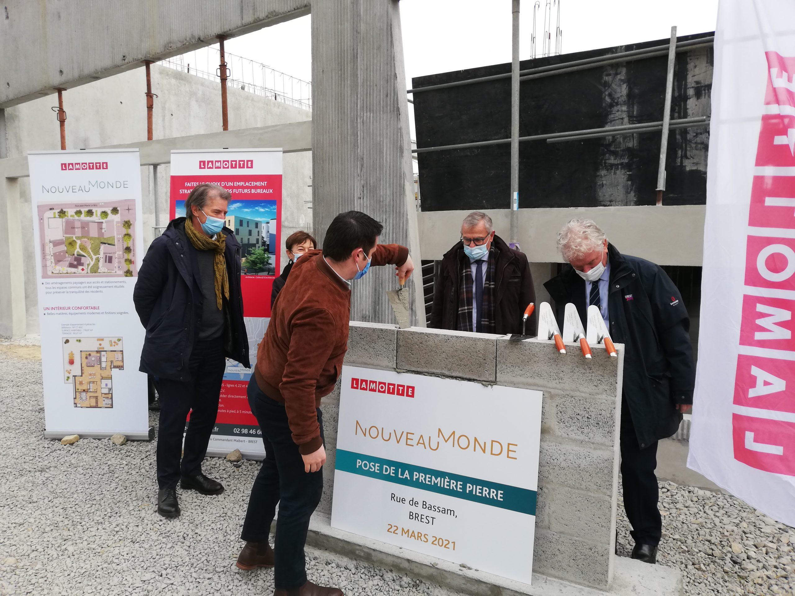 Lamotte pose la première pierre de son programme Nouveau Monde, au port de commerce de Brest
